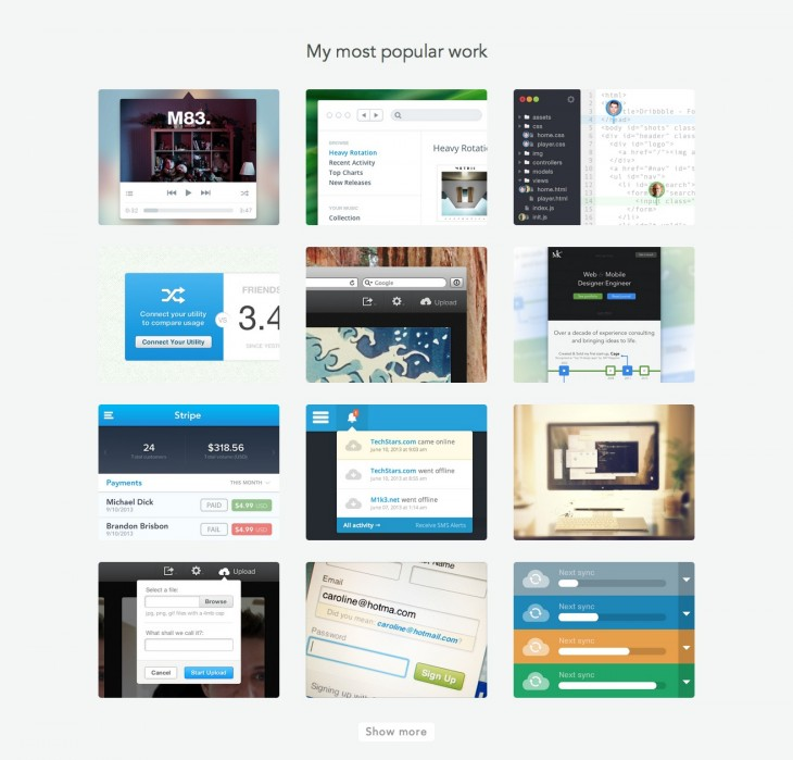 resource 3 730x699 CMD+SPACE creates an instant design portfolio for your Dribbble account
