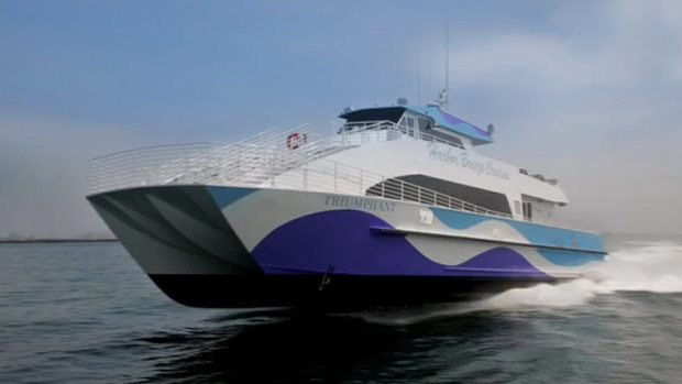 triumphant catamaran ferry Google confirms its offering San Francisco workers a new way to get into the office: By catamaran