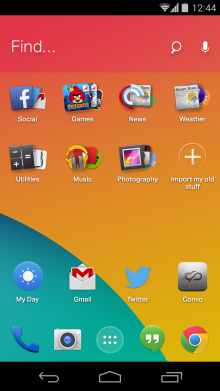 2014 02 04 12.45.01 220x391 EverythingMes new Android homescreen learns what apps you want, when you want them
