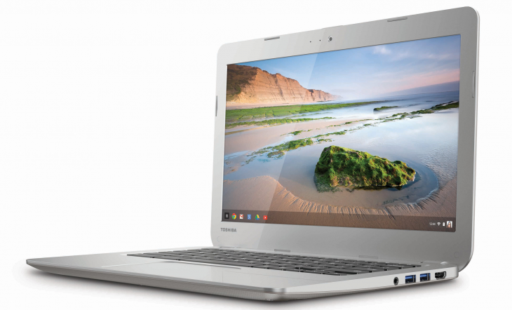 Chromebook toshiba 730x442 Toshibas new 13.3 inch Chromebook is now available to pre order for $280