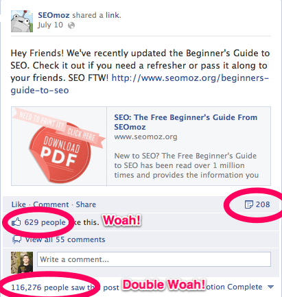 Facebook Post Stats 7 ways to improve the quality of your email list with social media