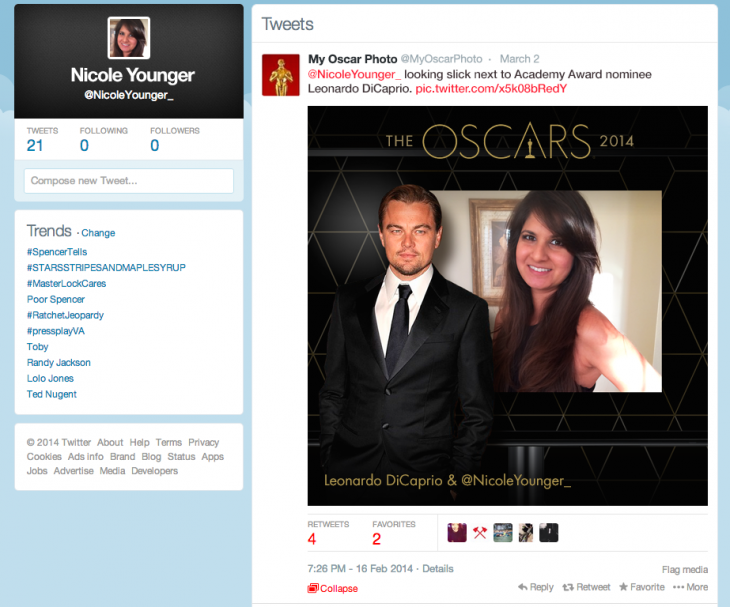 In twitter feedV3 730x607 Livefyre pushes the limits of its technology with Oscars red carpet photo booth that tweets for fans