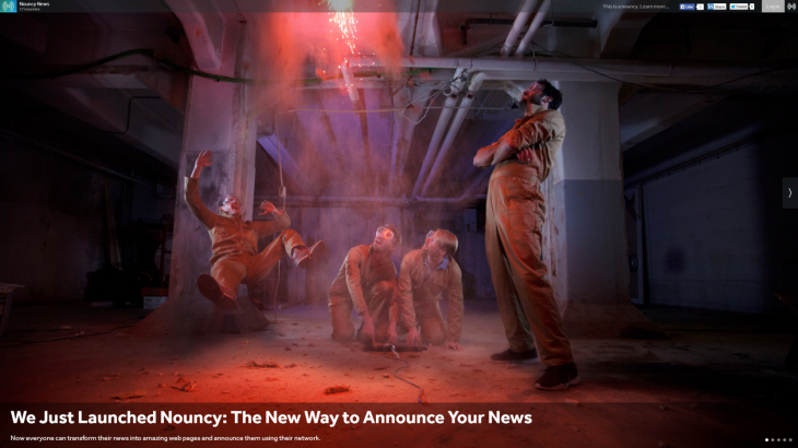 Nouncy news 730x410 Nouncy wants to shine a light on Dark Social and replace email newsletters with simple Web pages