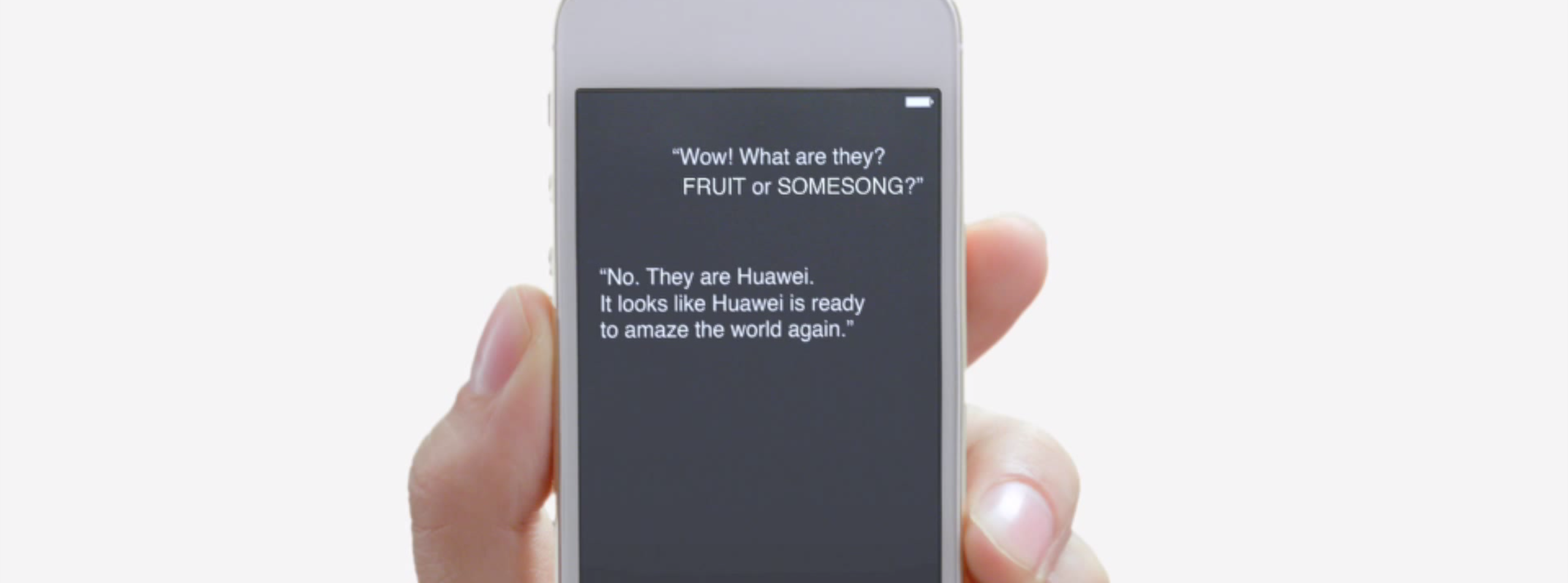 Huawei Video uses Siri and iPhone to Tease New Smartphone, Tablets
