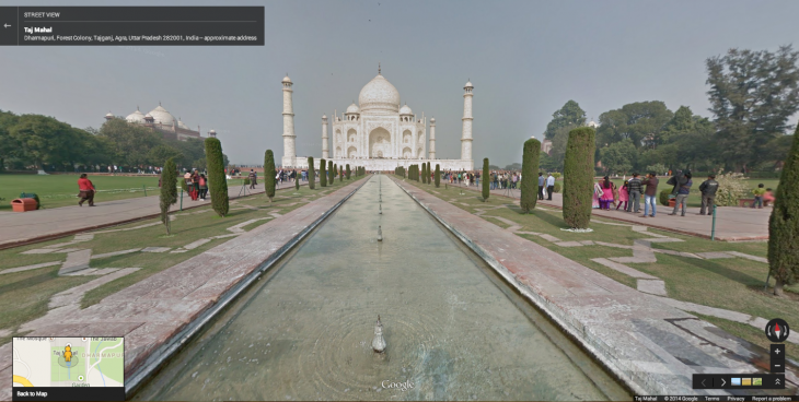 Taj Mahal 730x368 You can now explore the Taj Mahal and other Indian monuments through Google Street View