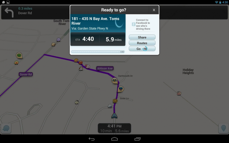 Waze 730x456 Googles Waze navigation app for iOS and Android updated with calendar integration