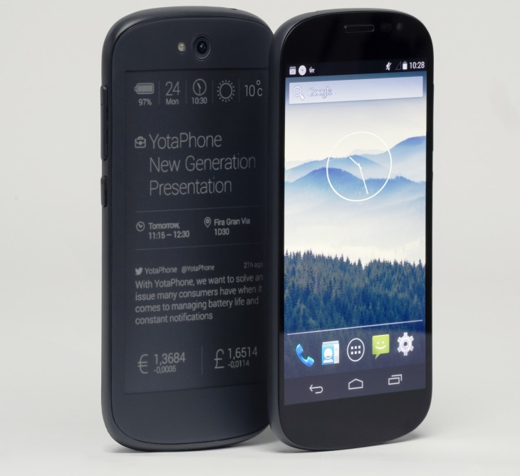 YotaPhone Photo 1 730x668 This is the new YotaPhone: A 5 Android smartphone with a 4.7 touchscreen e ink display on the back