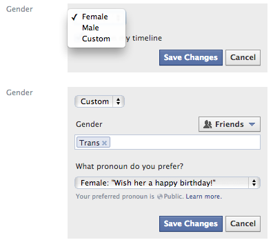 facebook custom gender Facebook now lets you select a custom gender on your profile