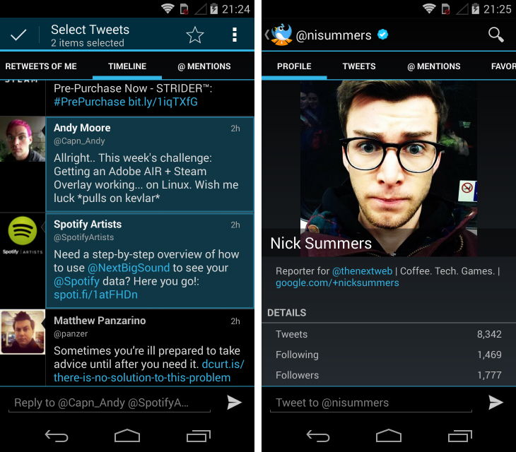 tweetlanes Fed up with Twitters official Android app? Try these alternatives