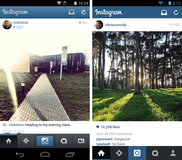 Instaedit2 Instagram for Android gets faster, more responsive and a gorgeous flat redesign