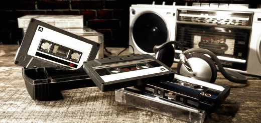 old cassettes and radio