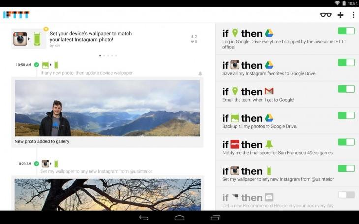 iftt 730x456 12 de las mejores nuevas aplicaciones de Android lanzado en abril