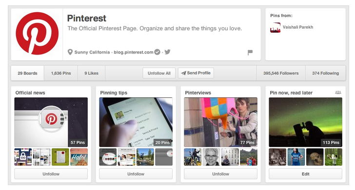 Pinterest Redesigns Its Profile Pages