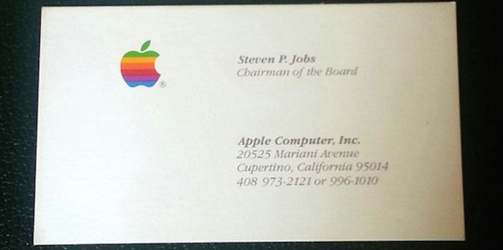 Got $3 000 You Could Buy Steve Jobs Business Cards