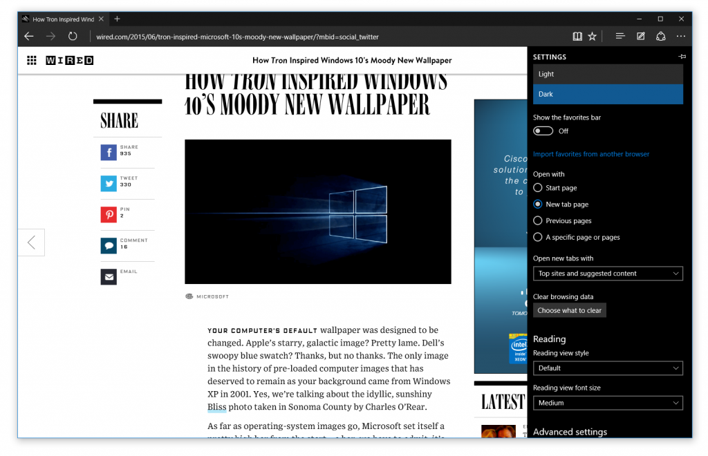 edge windows 10 preview