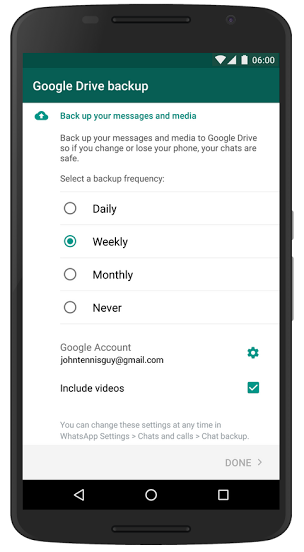 how to share photos from google drive to whatsapp