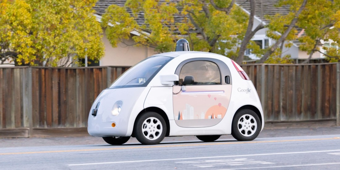 Google Self driving car 1100x550 - Google's self-driving cars spin out into new company called Waymo
