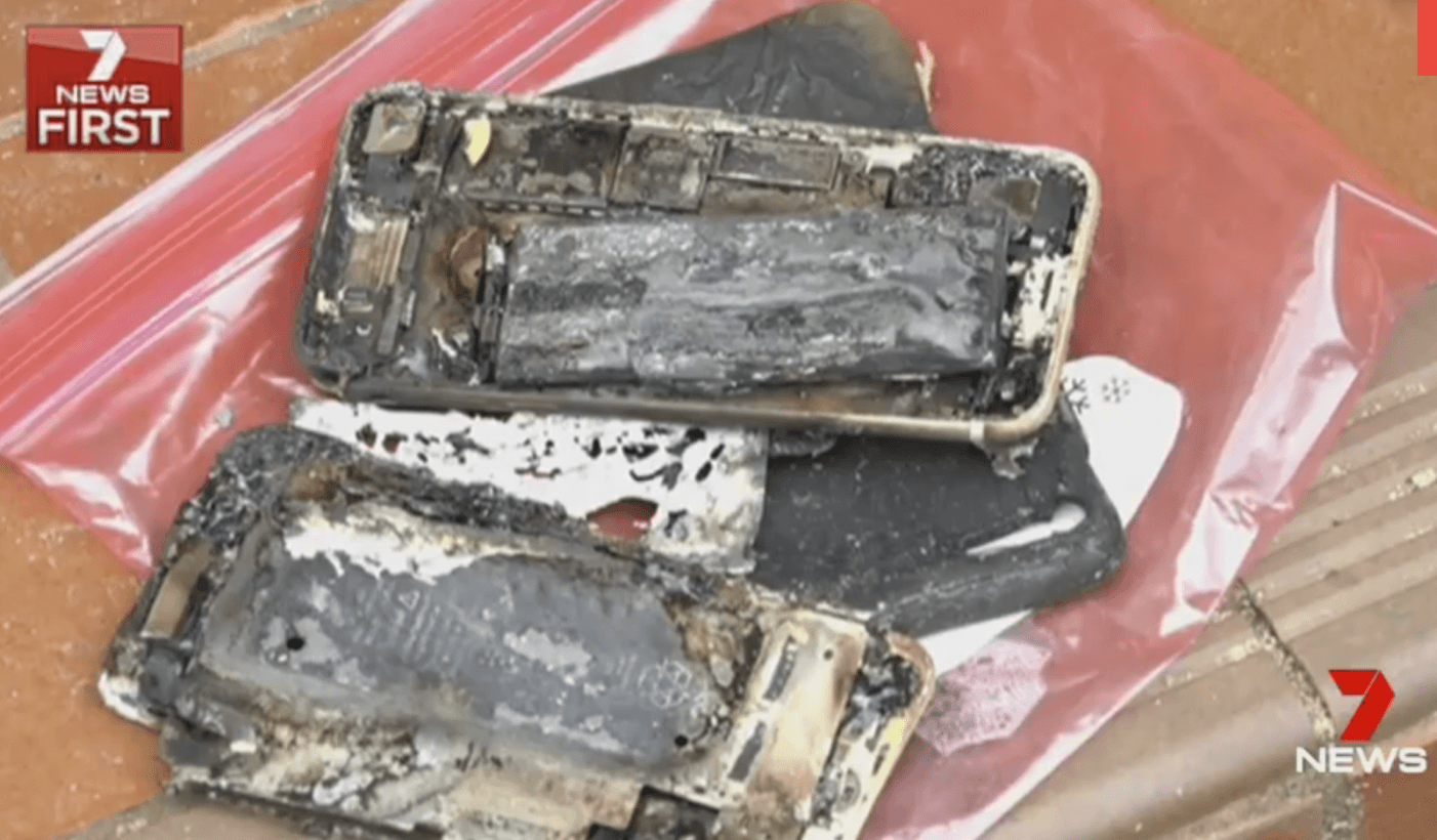 iphone 7, apple, car explosion