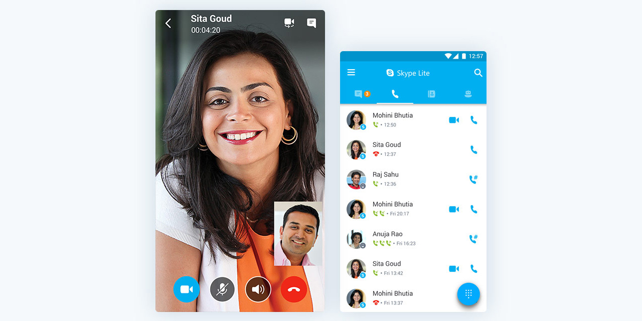 microsoft announces skype lite for low connectivity areas launching in india first. Black Bedroom Furniture Sets. Home Design Ideas