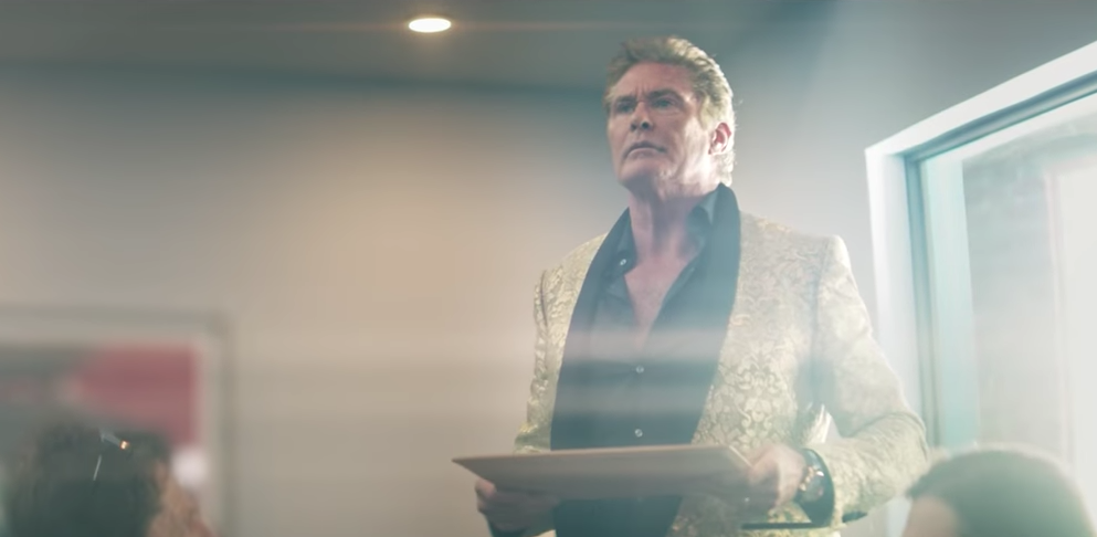 This short sci-fi movie starring David Hasselhoff was written by an AI