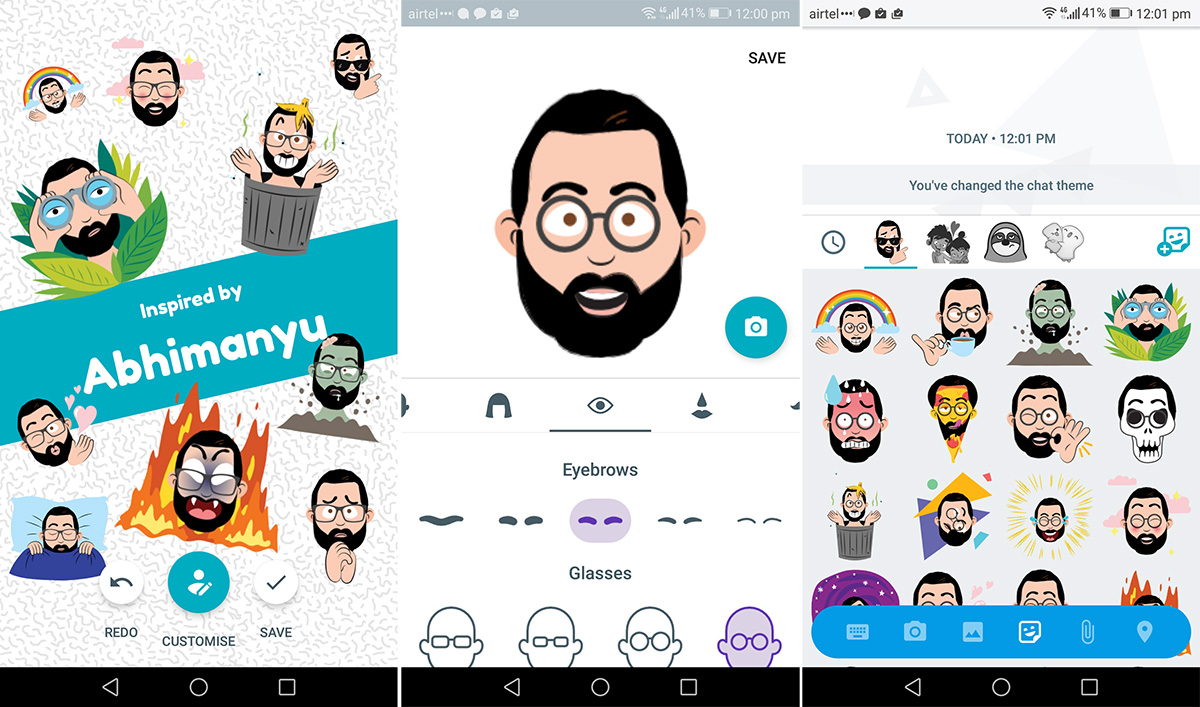 Selfie Stickers Google Allo