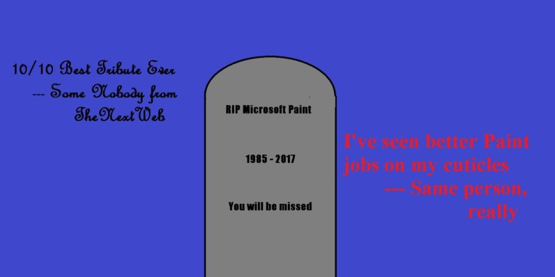 Microsoft Paint memorials are just as bad as you