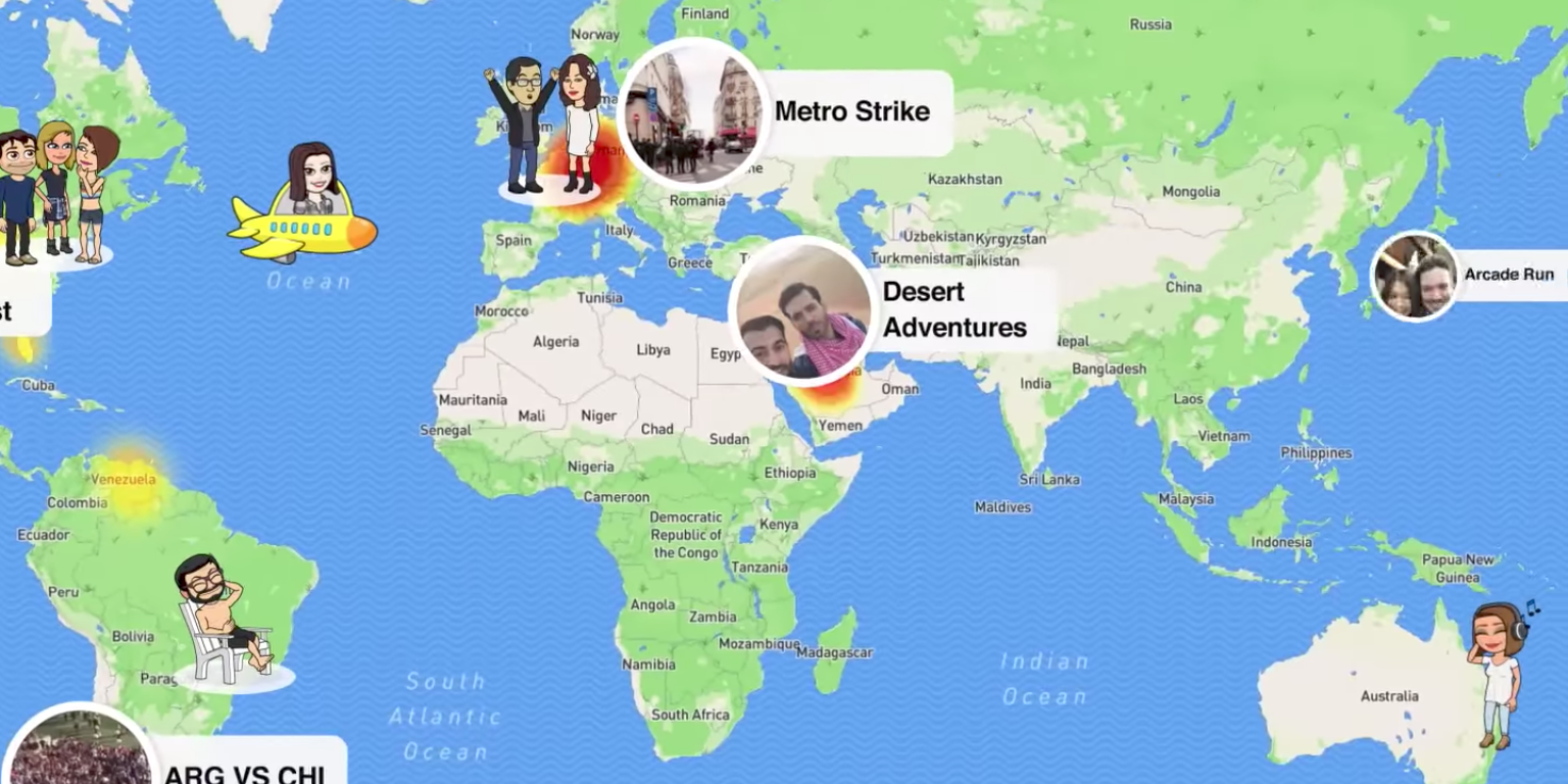 Snapchat's Snap Maps Feature (probably) Isn't Going to Get You Murdered